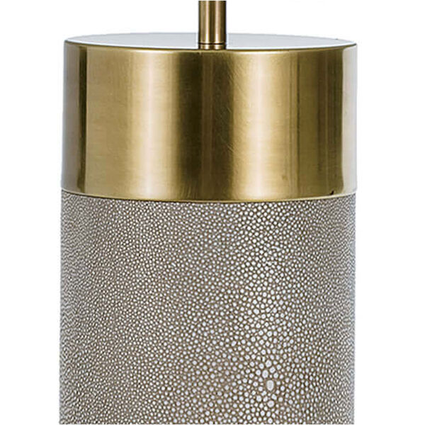 Classics Brass and Ivory Grey One-Light Table Lamp, image 2