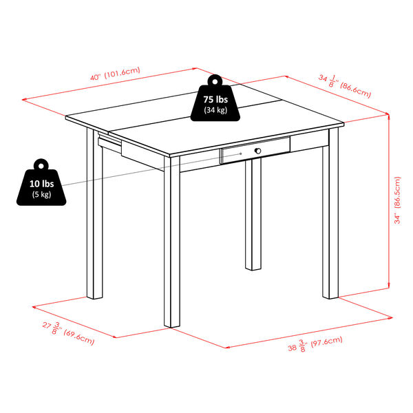Perrone Walnut Three Piece High Table Set, image 4