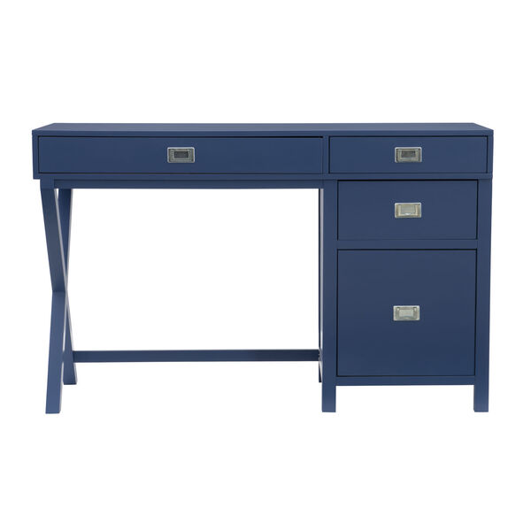 Max Navy Silver Desk, image 2