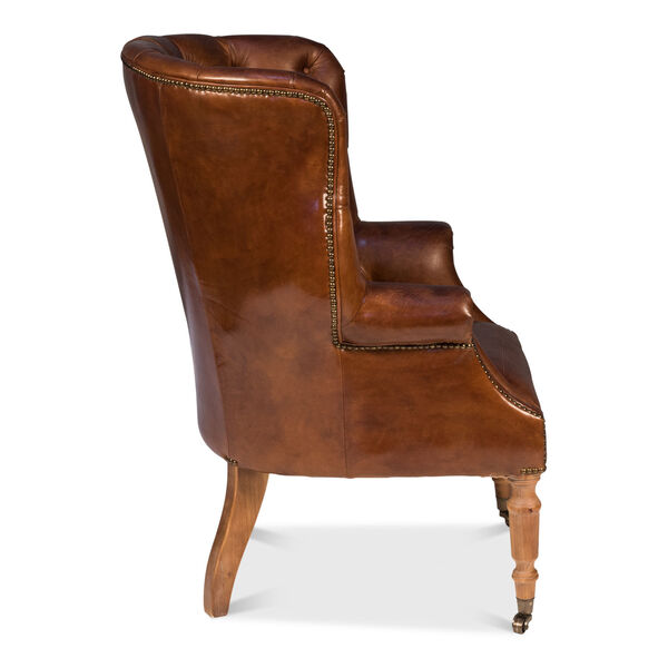 Brown Welsh Leather Chair, image 3