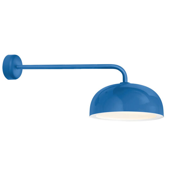 Dome Blue One-Light 16-Inch Outdoor Wall Sconce with 30-Inch Arm, image 1