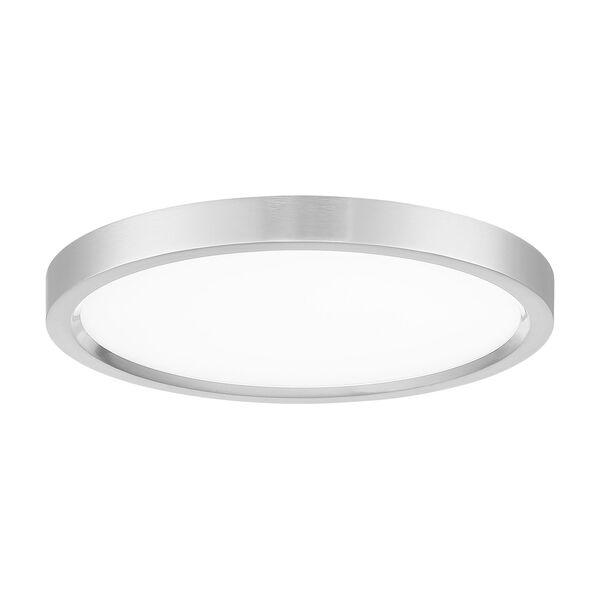 11-Inch Brushed Nickel LED Round Flush Mount, image 1