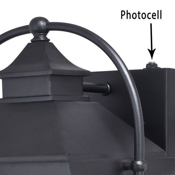 Lexington Textured Black Three-Light Outdoor Wall Sconce, image 4