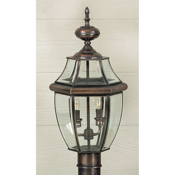 Newbury Small Aged Copper Outdoor Post Mount, image 1