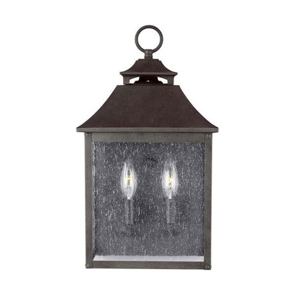 Sutton Black Two-Light Outdoor Wall Lantern, image 1