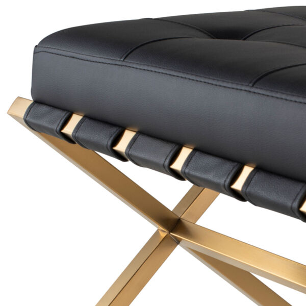 Auguste Black and Gold Bench, image 4