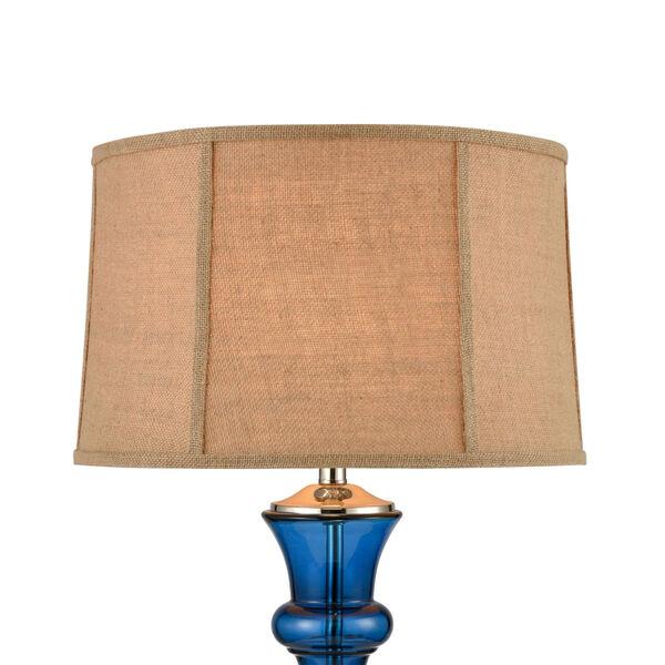 Drina Blue Polished Nickel One-Light Table Lamp, image 3