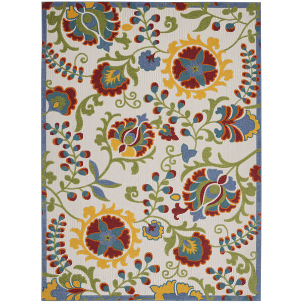 Aloha Yellow and Blue 12 Ft. x 15 Ft. Indoor/Outdoor Rectangle Area Rug, image 2