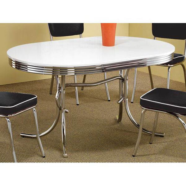 Cleveland Chrome Plated Oval Dining Table, image 1