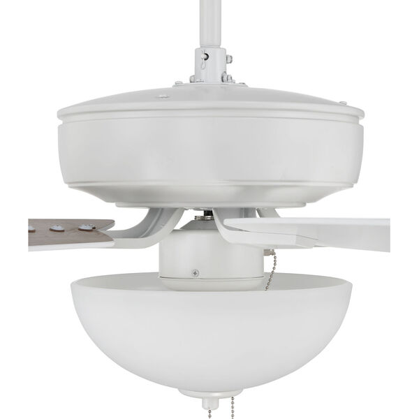 Pro Plus White 52-Inch Two-Light Ceiling Fan with White Frost Bowl Shade, image 7