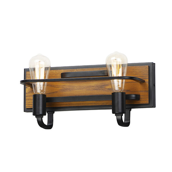 Black Forest Black and Ashbury Two-Light Wall Sconce, image 1