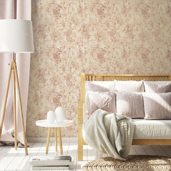 Distressed Gold Leaf Rose Peel and Stick Wallpaper, image 2