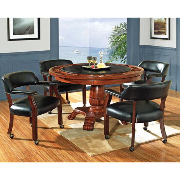 Tournament Black Arm Chair w/Casters, image 2