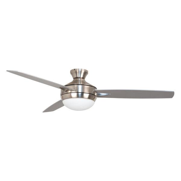 Targas Brushed Polished Nickel 52-Inch Ceiling Fan, image 1