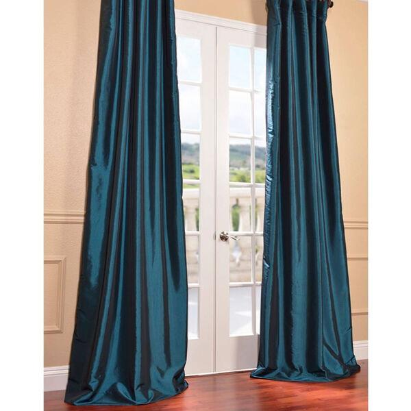 Mediterranean 108 x 50-Inch Blackout Faux Silk Taffeta Curtain Single Panel, image 2