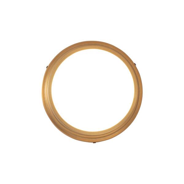 York Aged Brass 8-Inch LED Flush Mount, image 2