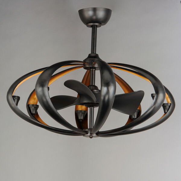 Ambience Bronze and Gold Eight-Light LED Fandelight, image 2