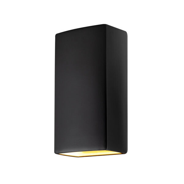Ambiance Carbon Matte Black 11-Inch Two-Light Closed Top and Bottom GU24 LED Rectangle Outdoor Wall Sconce, image 1