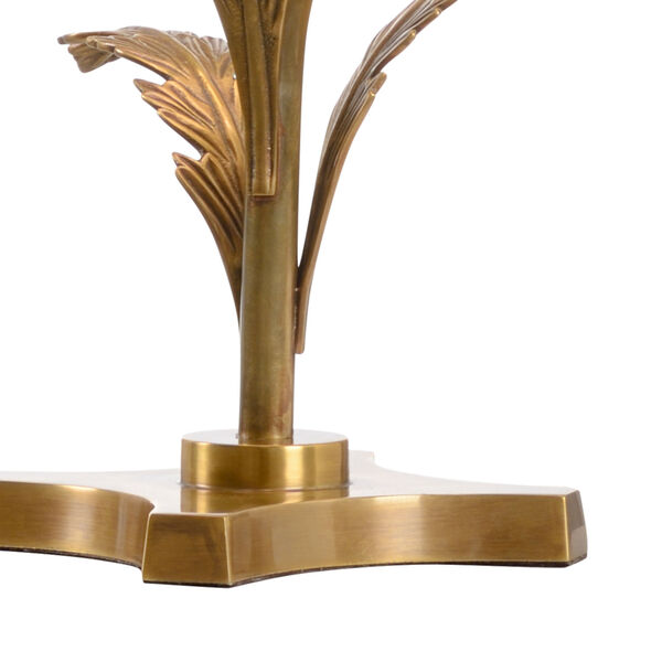 Beverly Tarnished Brass and White One-Light Glen Lamp, image 2