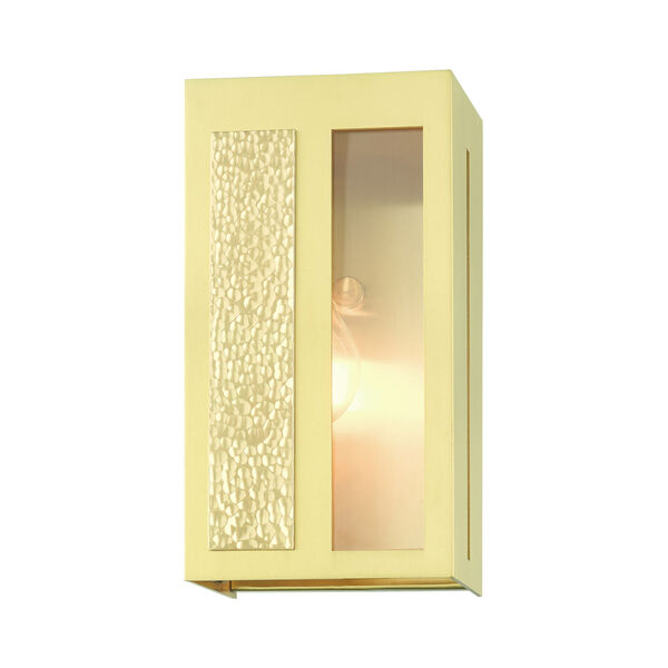 Lafayette Satin Brass Five-Inch One-Light Outdoor ADA Wall Sconce, image 3
