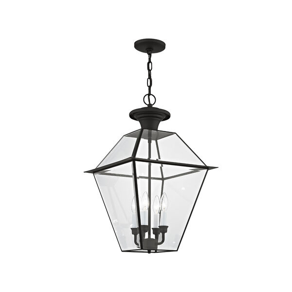 Westover Black Four-Light Outdoor Chain Hang, image 1