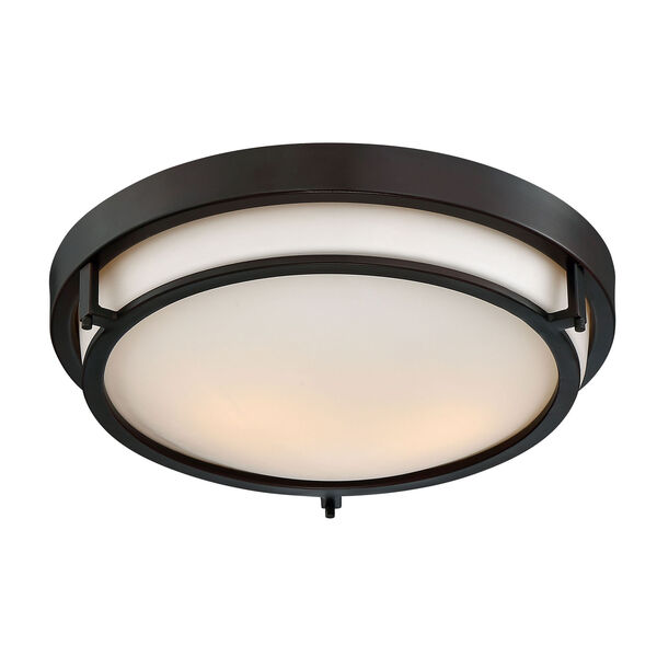 Nicollet Rubbed Bronze Two-Light Flush Mount, image 3