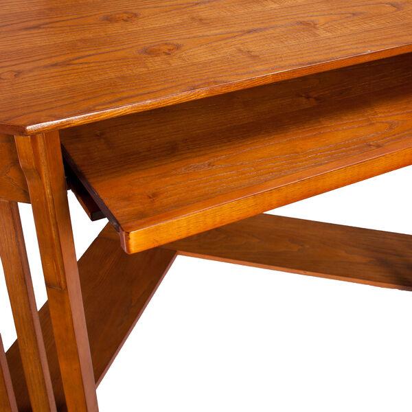 Oak Corner Computer Desk, image 6
