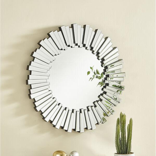 Sparkle Glass 39-Inch Round Mirror, image 2