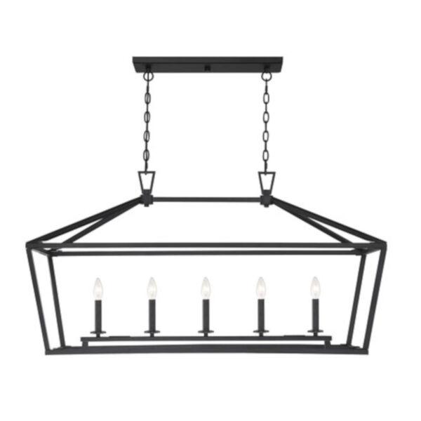 Anna Matte Black 16-Inch Five-Light Pendant, image 1