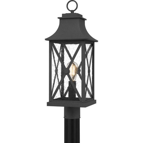 Ellerbee Mottled Black One-Light Outdoor Post Mount, image 1