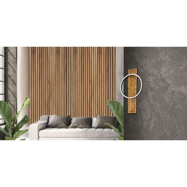 Boyal Brushed Pine Wood Integrated LED Wall Sconce, image 3