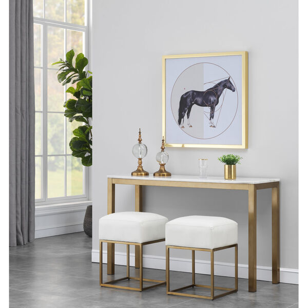 Gold Marble Top Console Table, image 3