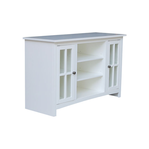 White 48-Inch TV Stand with Two Door, image 5