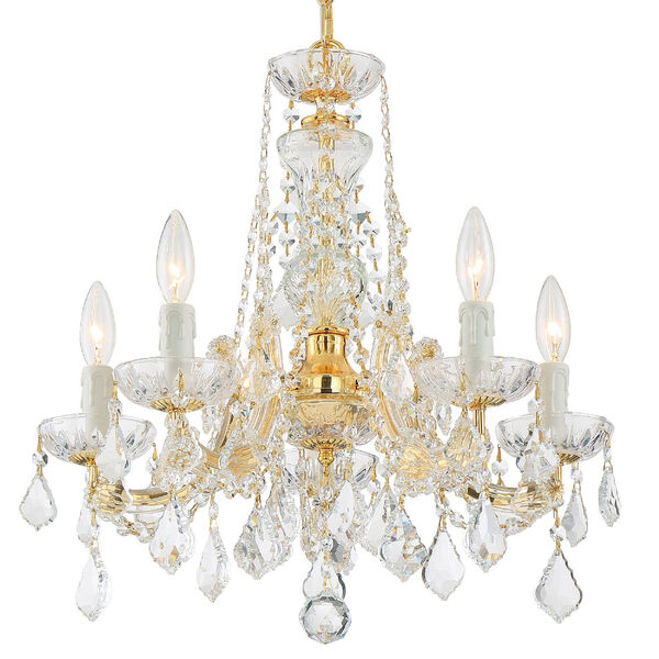 Maria Theresa Tall Five-Light Crystal Chandelier, image 1