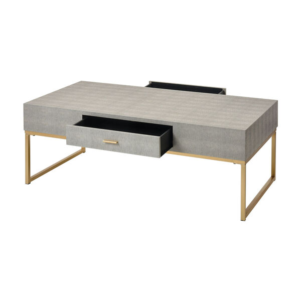 Les Revoires Grey with Gold Coffee Table, image 2