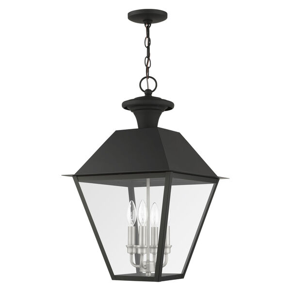 Mansfield Black Four-Light Outdoor Pendant, image 2