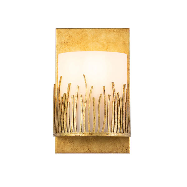 Sawgrass Gold Leaf with Antique One-Light Wall Sconce, image 1