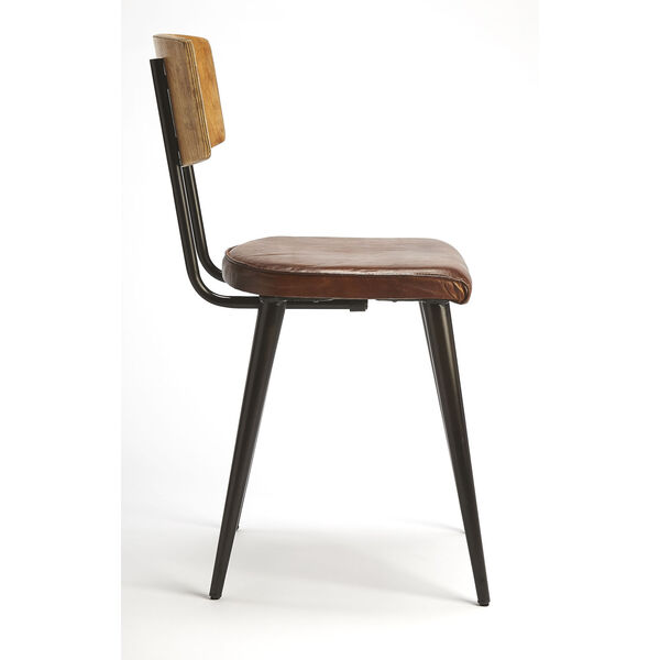 Brown 32-Inch Side Chair, image 5
