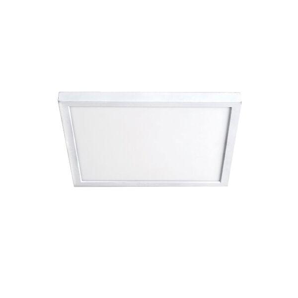 White 11-Inch 3000K LED ADA Square Flush Mount, image 1
