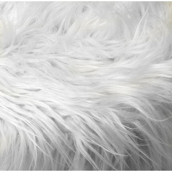 Loft Black Ezra Faux Fur Stool, image 4