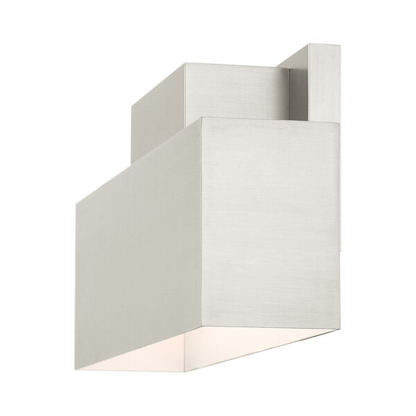 Lynx Brushed Nickel Two-Light Outdoor ADA Wall Sconce, image 6