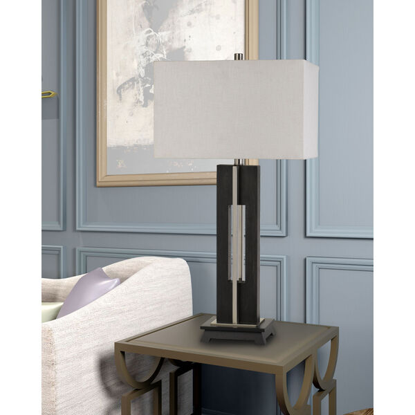 Glenview Black and White One-Light Table lamp, image 2