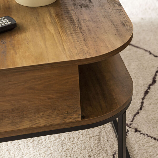 Jean Barnwood and Black Coffee Table with One Drawer, image 2