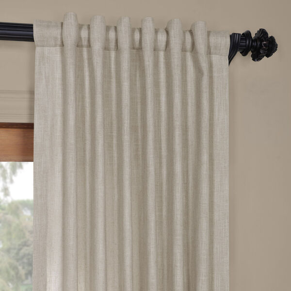 Ash Grey Heavy Faux Linen 96 x 50 In. Curtain Single Panel, image 4