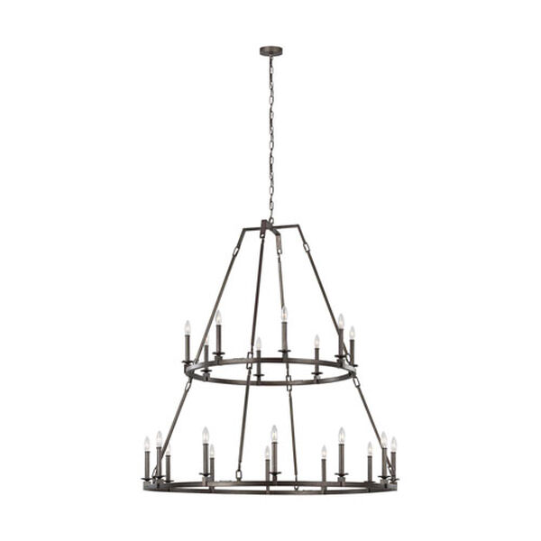 Heaton Steel 20-Light Chandelier, image 1