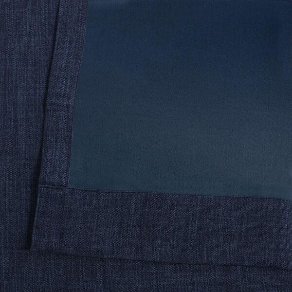 Blue Indigo 108 x 50 In.Faux Linen Blackout Curtain Single Panel, image 6