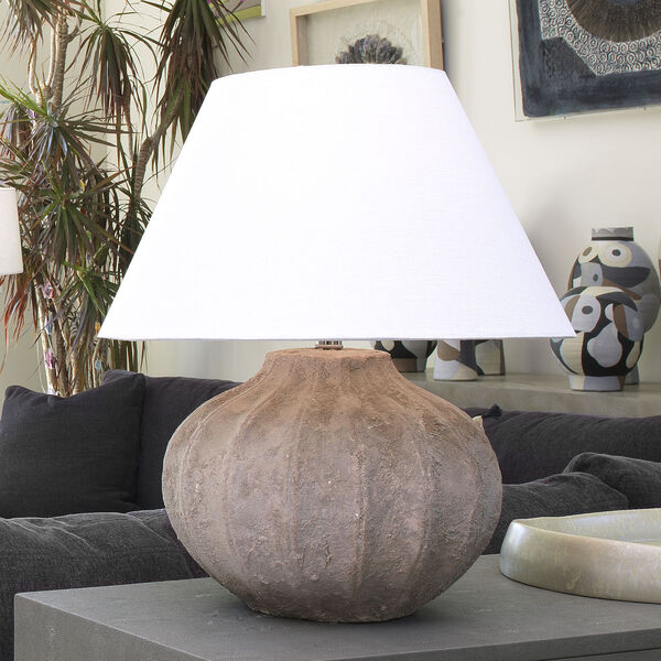 Clamshell Sand One-Light Table Lamp, image 3
