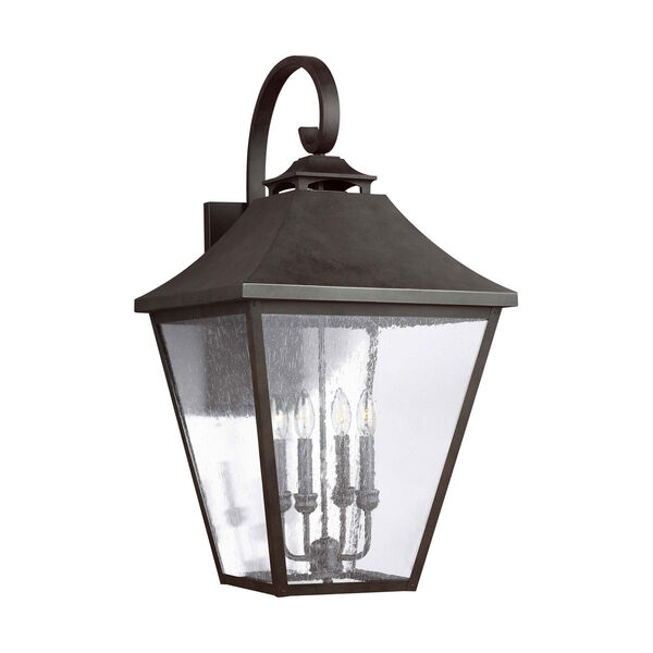Galena 33-Inch Sable Four-Light Outdoor Wall Lantern, image 2