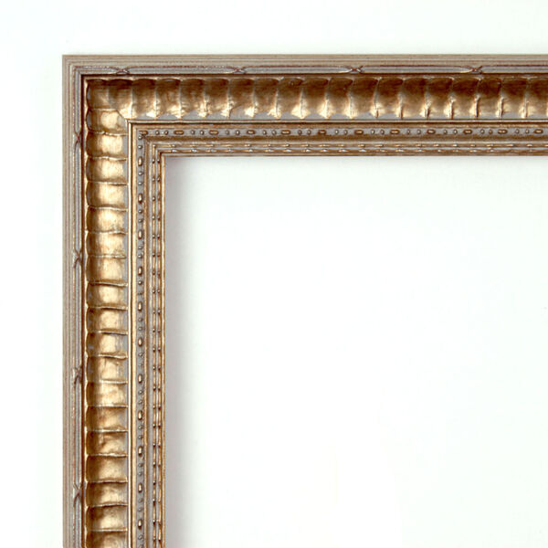 Fluted Champagne 20W X 26H-Inch Decorative Wall Mirror, image 2