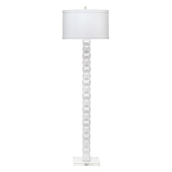 Astor Textured Matte White One-Light Floor Lamp, image 1